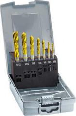 Jeu de tarauds machine pour trous borgnes, pour filetage métrique, anneau jaune, revêtement TiN, Gühring