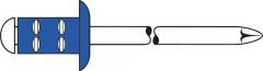 Rivet aveugle multiserrage acier/acier tête goutte de suif 4x10mm