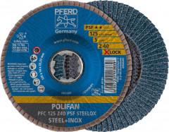 Disque à lamelles Z PSF STEELOX, corindon zirconium