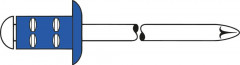 Rivet aveugle multiserrage acier/acier tête goutte de suif 4,8x15mm
